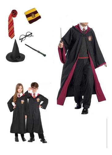 Imagen 1 de 3 de Juego De 6 Piezas Disfraz Capa Bordada Harry Potter