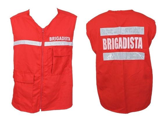 Chaleco Industrial Brigadista Reflectivo Brigadas Emergencia