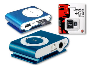Reproductor Mp3 Shuffle+micro Sd 4gb+audifonos+cable
