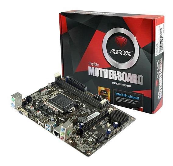 Placa Mãe Afox Ih81-ma5 Chipset H81 Intel Lga 1150 Ddr3 Matx