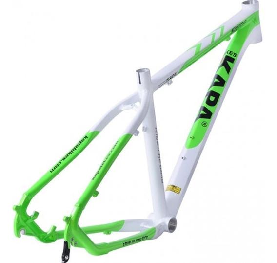 Quadro 29 Alum Kapa Sigma Branco/verde Tam 18 - Kapa Bikes