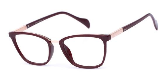 Armação Oculos Ogrife Og 982-c Feminino Com Lente Sem Grau