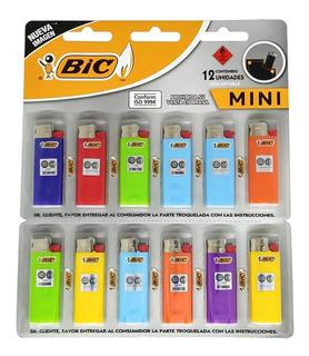 Encendedor Mini Bic X12 Unidades