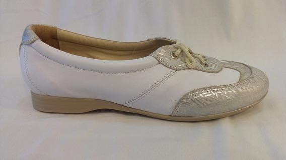 Zapato Cuero Combinado Con Cordon Art 420. Marca Alen