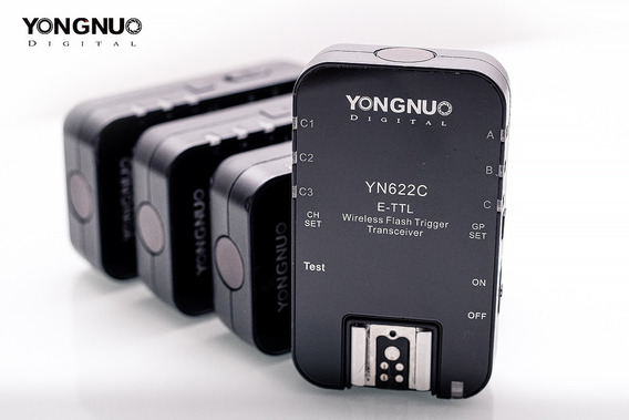 Kit Rádio Flash Yongnuo Yn-622c E-ttl Para Canon