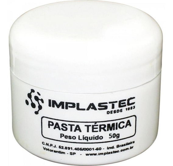Pasta Térmica 50g Implastec Processador Cpu