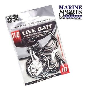Anzol Live Bait - 9/0 Com 10 Unidades Marine Sports