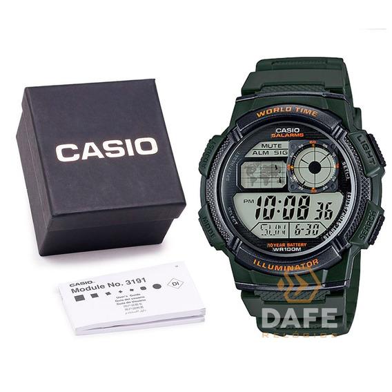Relógio Casio Ae-1000w Original Digital Militar C Caixa E Nf
