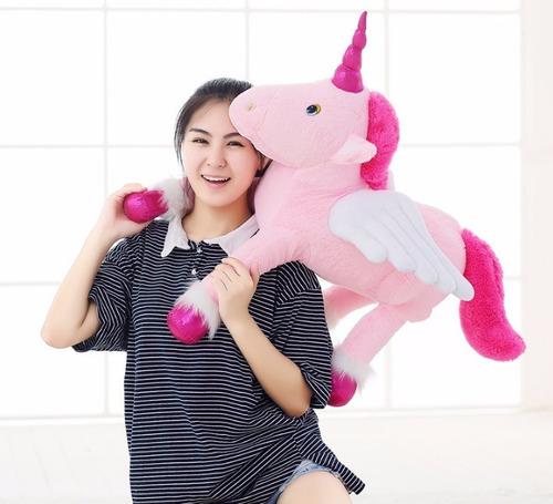Unicórnio 70cm Cavalo De Pelúcia Almofada Fofinha Bebê Neném