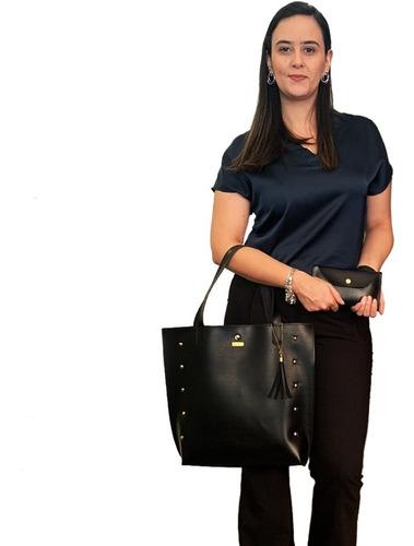Bolsa Feminina Shopper Tipo Saco Grande E Carteira Promoção