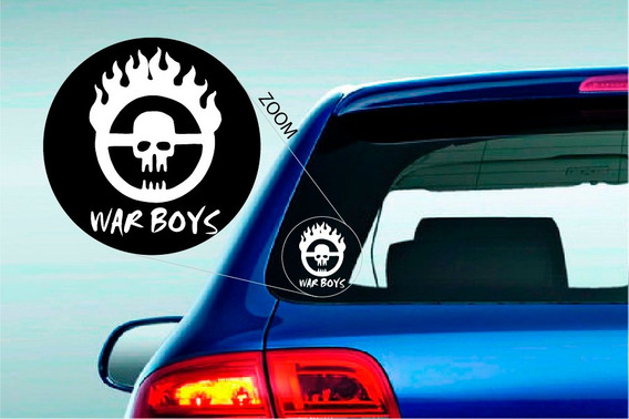 Mad Max War Boys Calco Sticker Vinilo Skin Deco