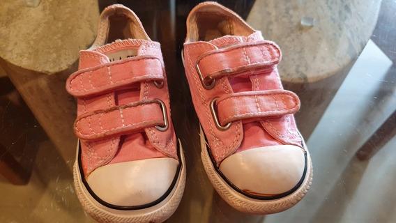 Zapatos Para Niñas Converse All Star Rosados Talla 24.