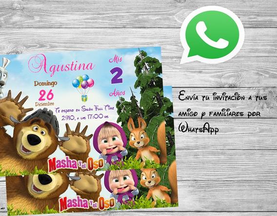 Tarjetas Invitacion Cumpleaños Masha Y El Oso Souvenirs