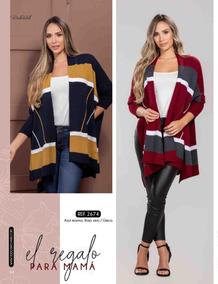 Hermoso Saco Chaqueta Chal Kimono Para Mujer Tejido Calidad