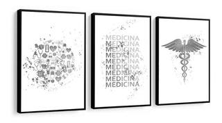 Quadro Decorativo Medicina Frase Figura Preto E Branco Decor
