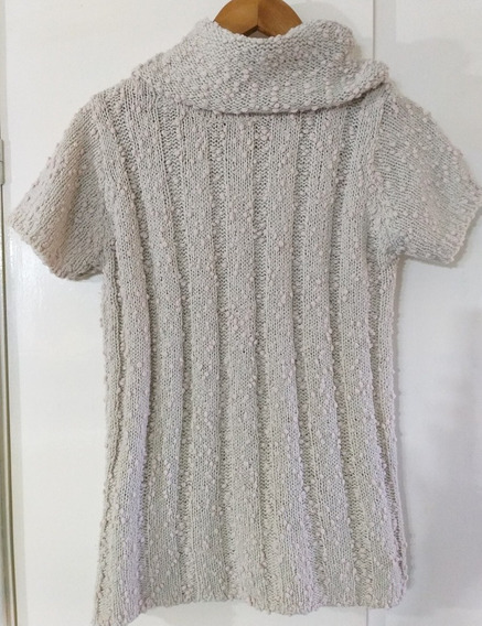 Sweater Poleron Lana Bucleado Mujer M Nucleo Impecable