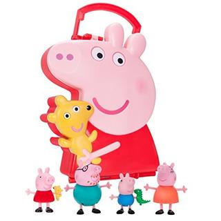 Peppa Pig Carry Case Estuche Maletín Con 4 Figuras