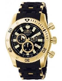 Relógio Invicta 0140 Sea Spider 18k Com Banho De Ouro