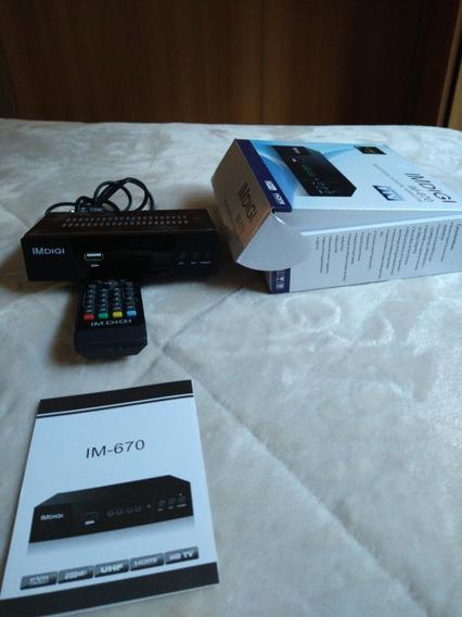 Conversor-receptor De Tv Digital Imdgi Im-670 Hdmi Hdtv Usb