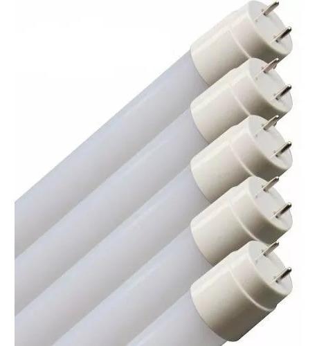 10 Lâmpada Led Tubular 60cm 8w Branco Quente 2700k Vidro