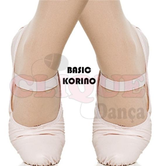 Sapatilha Básica Ballet Bailarina Em Korino Rosa