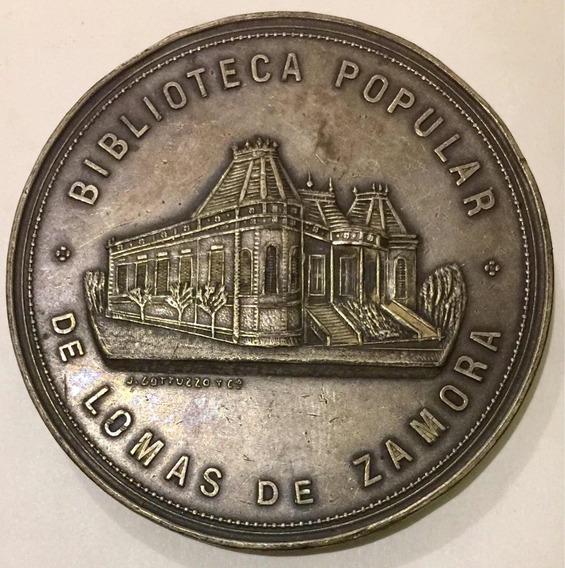 Medalla Biblioteca Popular De Lomas De Zamora 1910