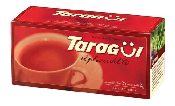 Te Negro Taragui 25 Saquitos 2gr Infusion Libre Gluten