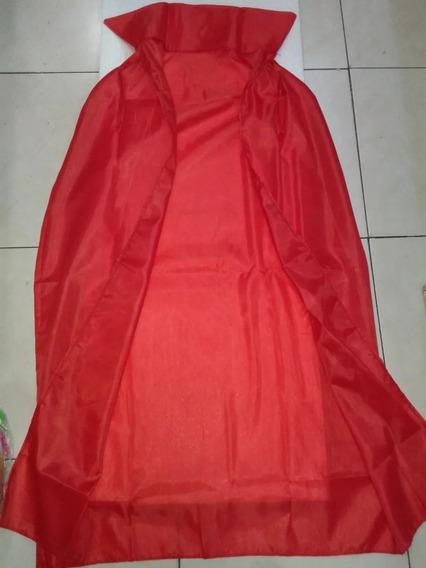 Capa Roja Niña Niño Con Cuello Cotillon Chirimbolos