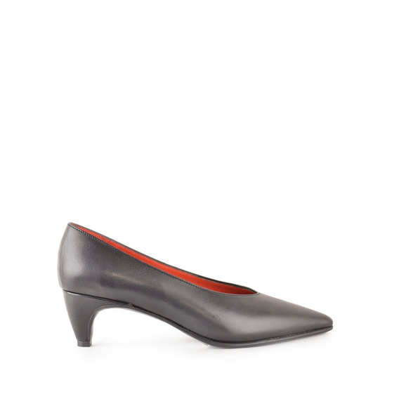 Zapatos Noche De Mujer Cuero Negro Turin - Ferraro -