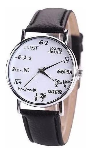 Reloj Matemático Geek Ecuaciones Nerd Regalo Original Mejor