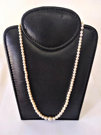 Delicado Colar De Perlas Con Feche De Prata
