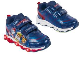 Tenis Sneaker Cklass Led Niño Paw Patrol Sint Azul 05108 Dtt