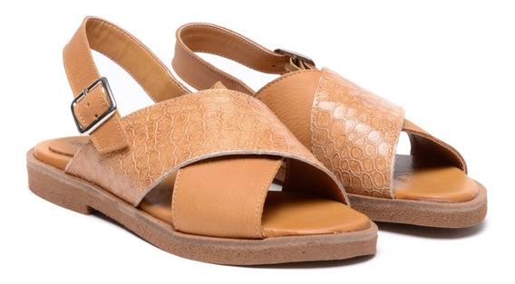 Zapatos Mujer Cuero Sandalias Chatitas Bajos Zueco Heben 145