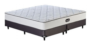 Colchón Y Sommier Simmons Deepsleep Resortes King 200x180