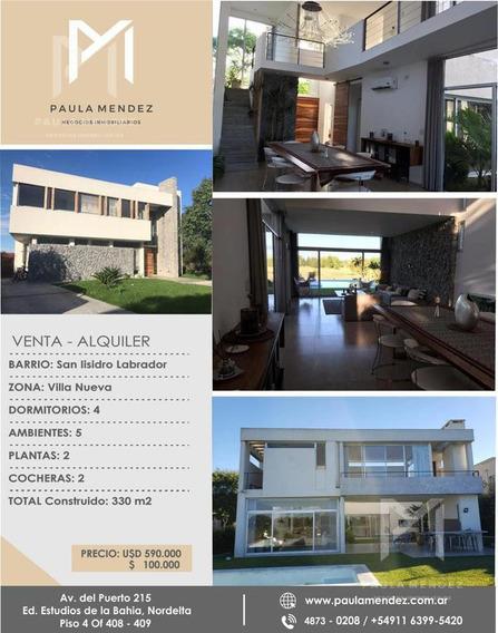 Casa - Alquiler - Venta - 6 Ambientes - San Isidro Labrador - Villanueva - Tigre