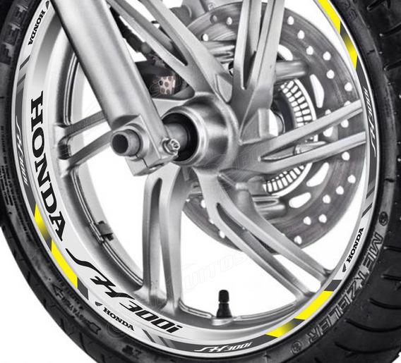 Friso + Adesivo Interno Refletivo D9 Roda Moto Honda Sh 300i