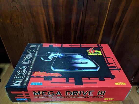 Mega Drive Iii Tec Toy 6-pak Com Caixa E 6 Jogos