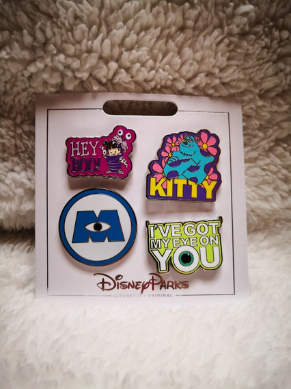 Disney Parks Pin Set Pixar Monsters Inc Boo Sully Mike