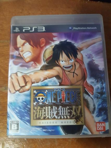 One Piece Pirate Warriors Ps3 Mídia Física Com Manual Jp