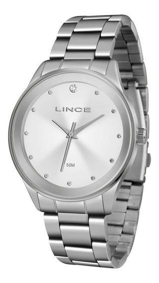 Relógio Clássico Lince Feminino Médio Prata Garantia