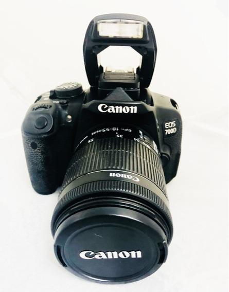 Câmera Canon T5i 700d Seminova Lente 1855