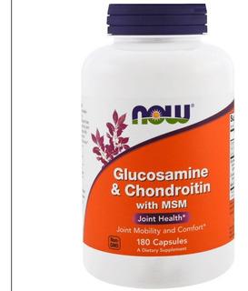 Glucosamina 1110mg & Condroitina 1200mg + Msm 180cáps