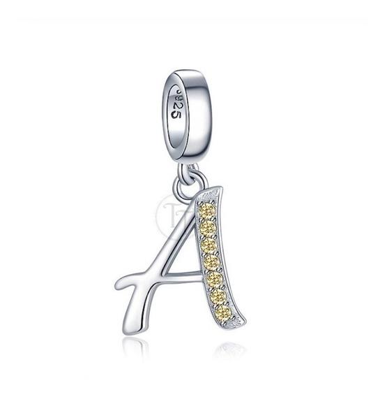 Collar Letra A Citrino 1.0 Ct Plata Esterlina 925 Grenoble