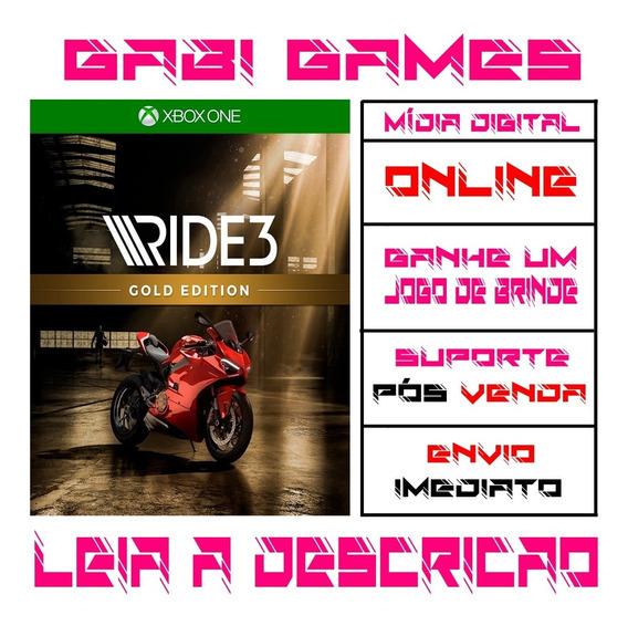 Ride 3 Gold Edition - Xbox One - Mida Digital Online + Brinde