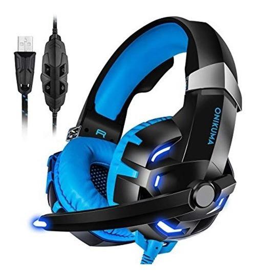 Headset Gamer Led Fone Onikuma Usb 7.1 Profissional Pc K2