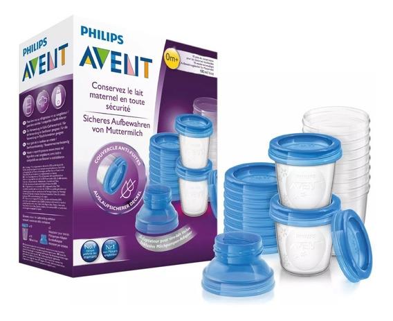Vasos Contenedores De Leche 180ml Avent Philips 10 Unidades