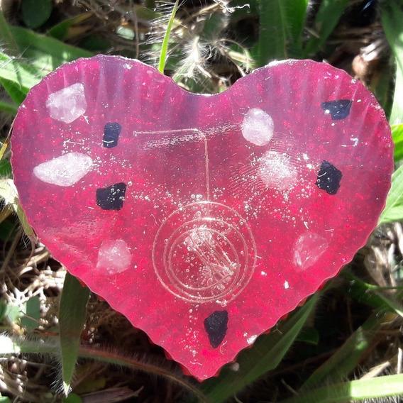 Orgonite Coração - Choku Rei - Turmalina Negra - Proteção