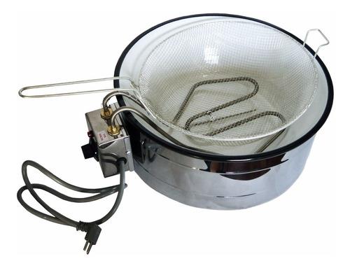 Imagem 1 de 5 de Fritadeira Elétrica 7 Litros C/cesto,brinde Escorredor