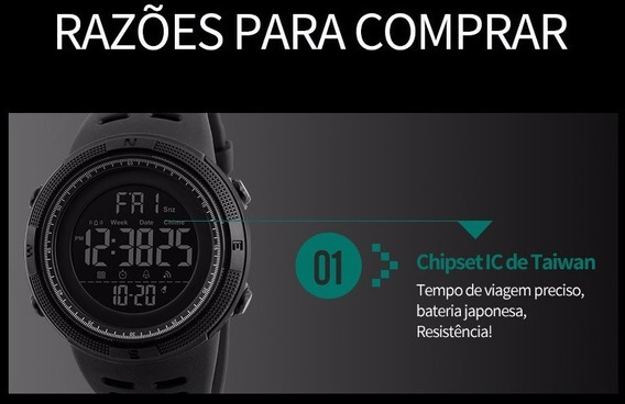 Relógio Masculino Esportivo Digital Prova D Aguá Skmei 1251
