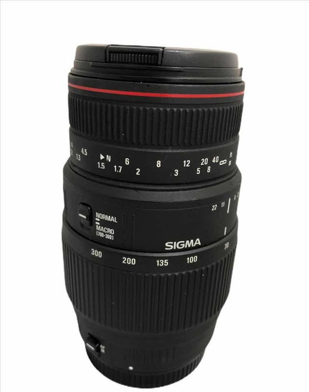 Lente Sigma Canon 70-300 F4 5.6 Dg Macro Seminova